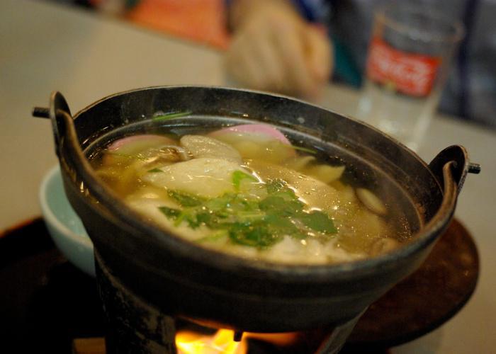 Senbeijiru, local style of rice cracker soup in Aomori