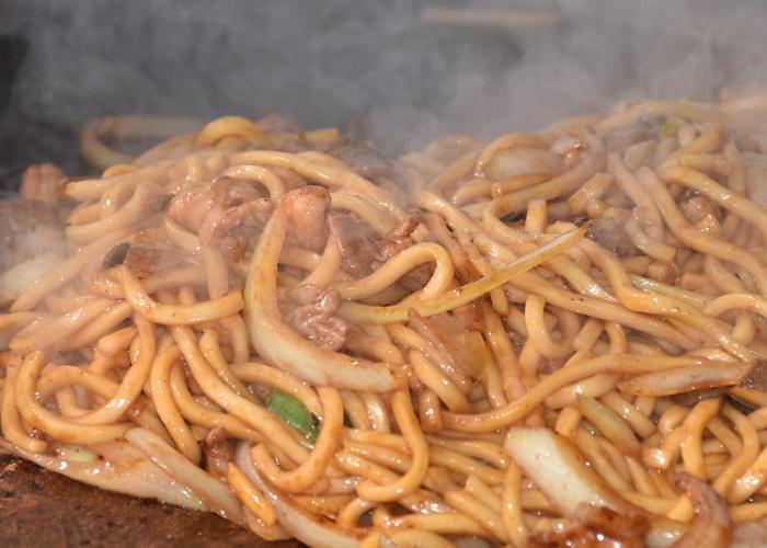 Stir-fried udon Tsuyama Horumon Udon