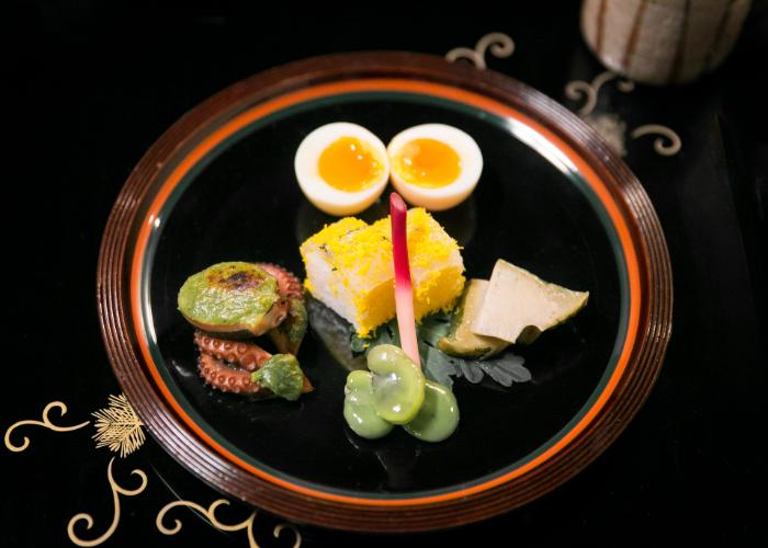 Hyotei's signature boiled egg dish