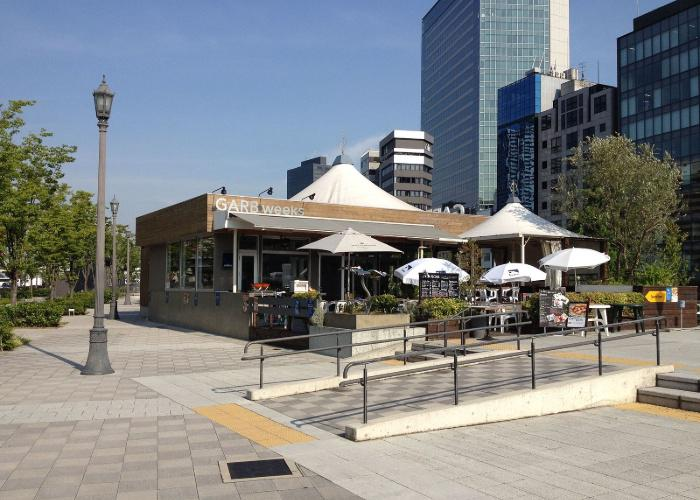 GARB weeks restaurant in Osaka exterior with outdoor seating