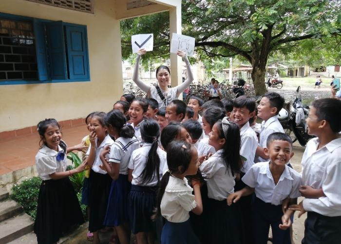Outdoor classroom in Cambodia