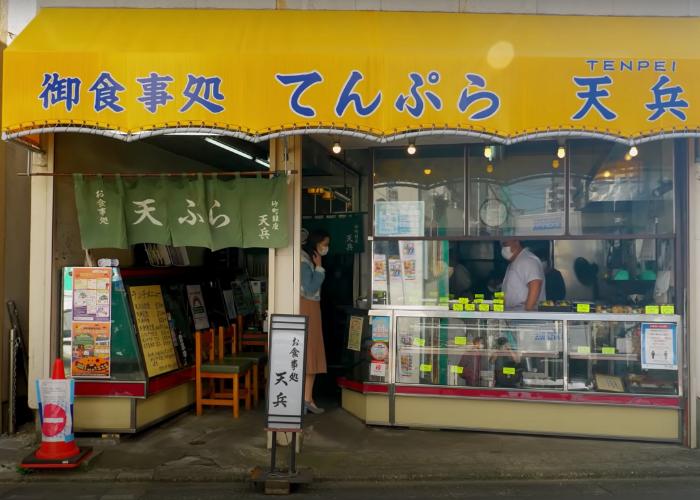 Tempura restaurant in Sunamachi Ginza