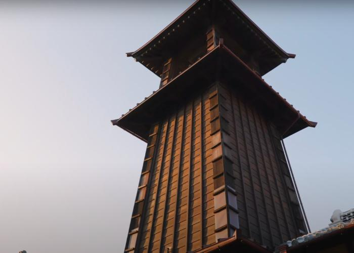 A close up shot of the Toki no Kane bell tower
