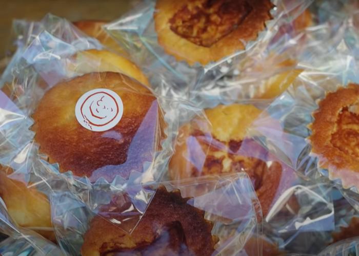 Closeup on Gin-chan muffins from Pan no Harimaya