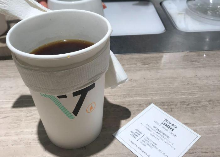 To-go cup from Verve Coffee Roasters in Shinjuku
