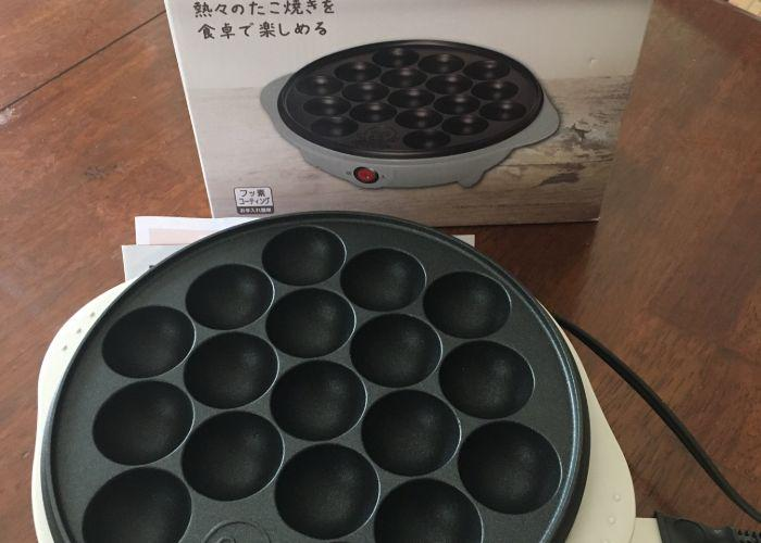 New takoyaki cooker and packaging