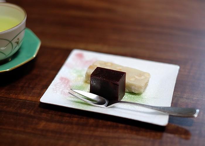 Yokan from Saga Prefecture on a plate