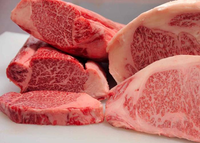 Thick cuts of Kobe beef