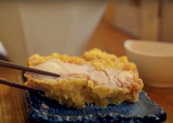 Chicken tempura, Toriten, on a dish
