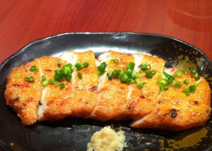 Satsuma-age, a local specialty fish cake from Kagoshima