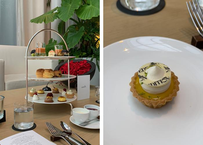 Images showing the contents of the afternoon tea at Toranomon Edition