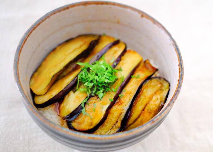 Eggplant donburi
