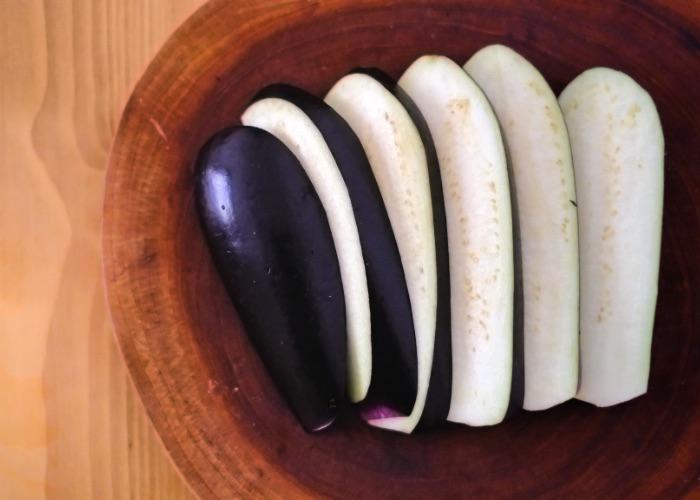 How to cut eggplant for donburi recipe