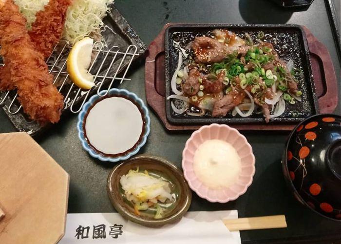 A meal at Wafutei, an Ishigaki restaurant