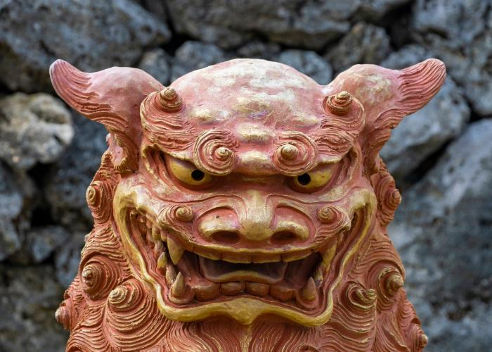 Guardian Lion statue at Ishigaki island's Ishigaki Yaima Village