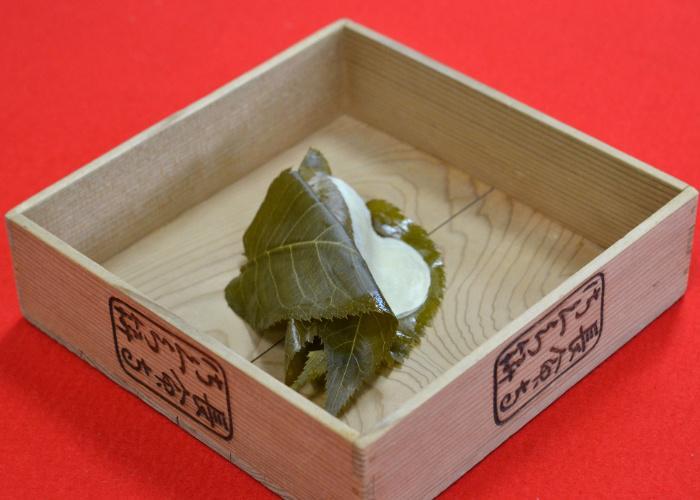 The Kanto-style sakura mochi from Chomeiji Sakura Mochi