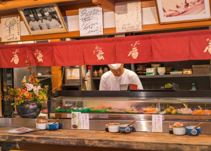 Exterior of Endo Sushi, the Osaka Central Fish Market