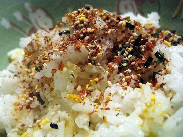 Furikake Rice Seasoning on some rice