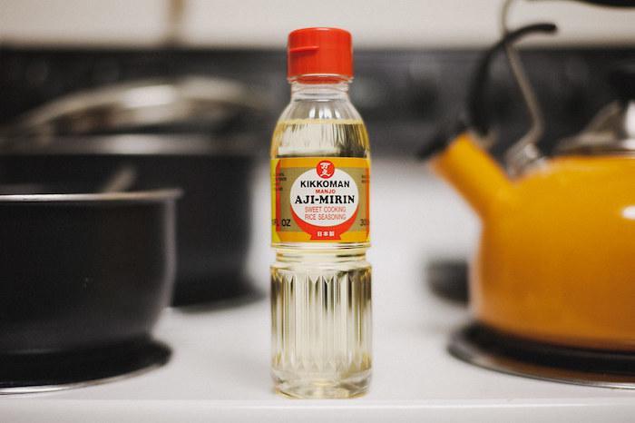 Mirin seasoning in a kitchen