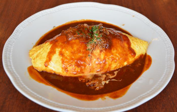 Omurice with lots of demi-glace sauce