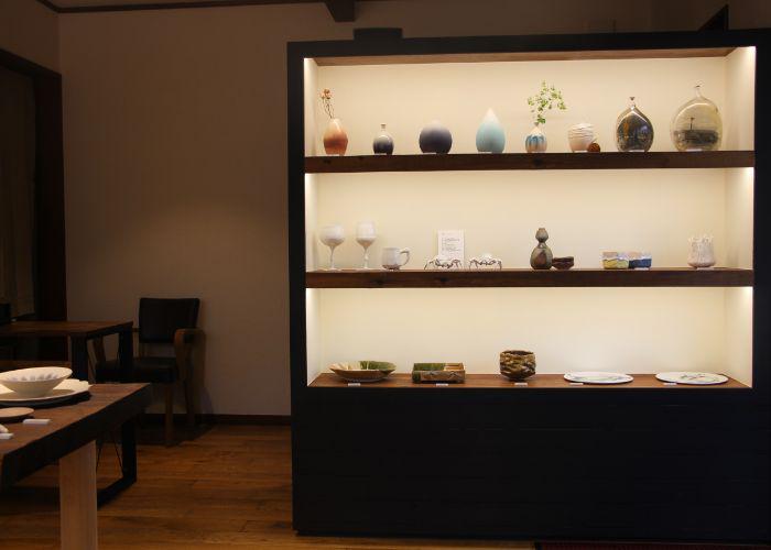 one corner of gallery mus