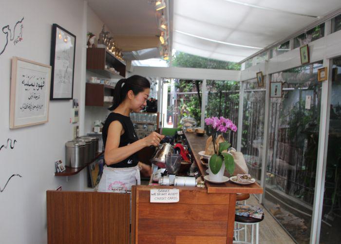 inside of mocha coffee