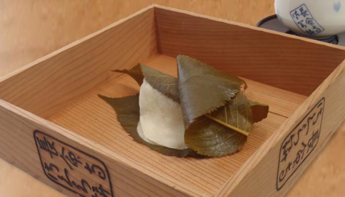 Sakura mochi from Chomeiji