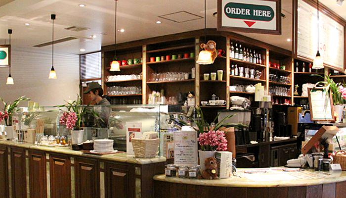 Inside of Urth Caffe
