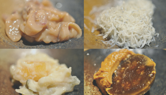 Ingredients of rice ball
