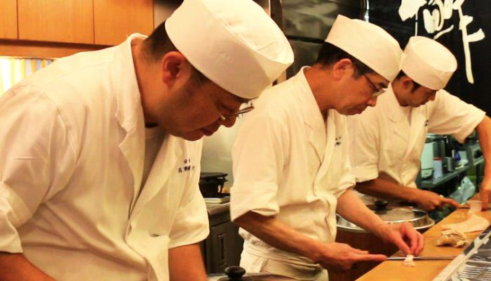 Chefs from Yoshino Sushi