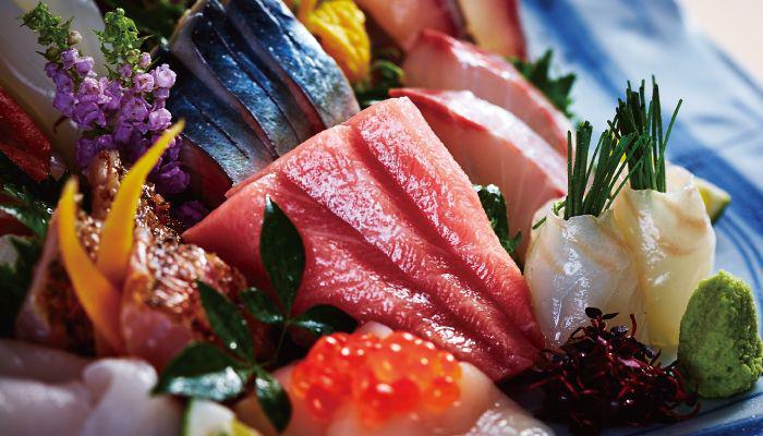 Fresh sashimi from Ryo