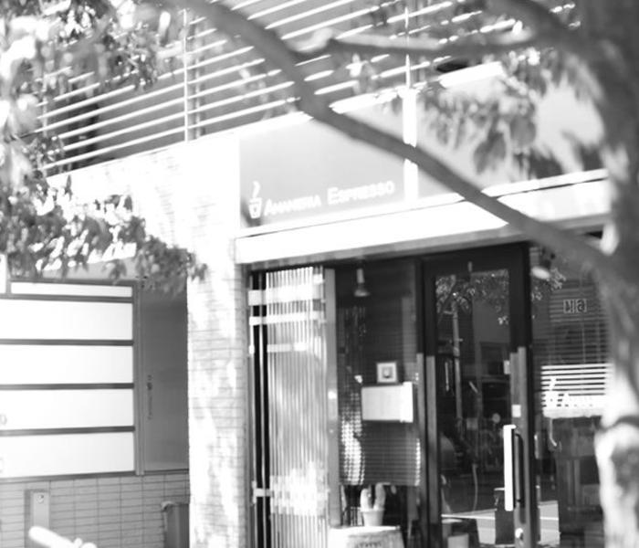Storefront of Amameria Espresso