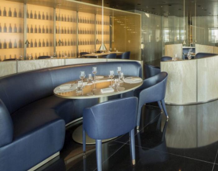 Inside of  Armani Restaurant