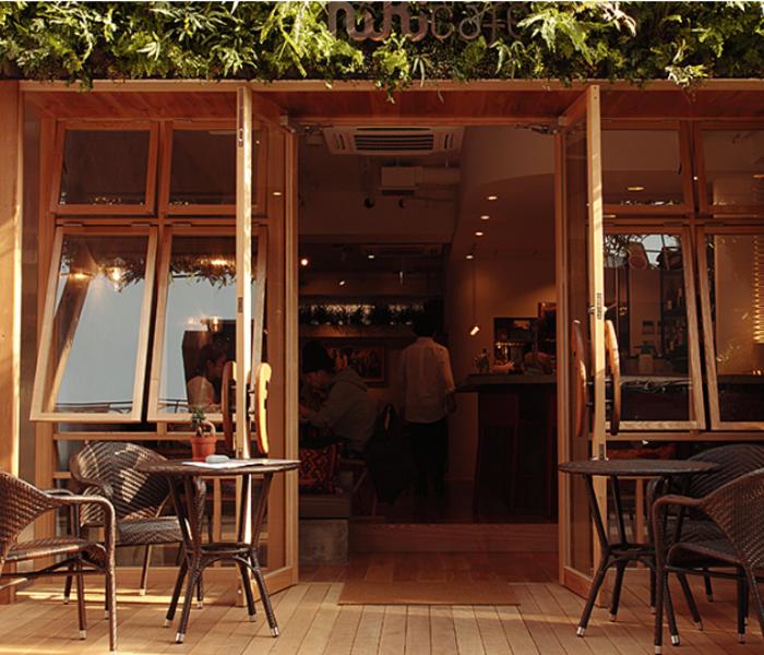 Hikicafé's patio