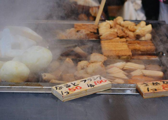 Oden being cooked