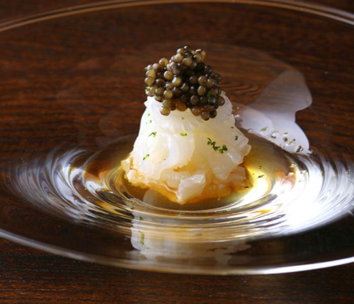 A three-star Michelin restaurant's delicacy