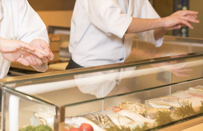 Skillful sushi chefs