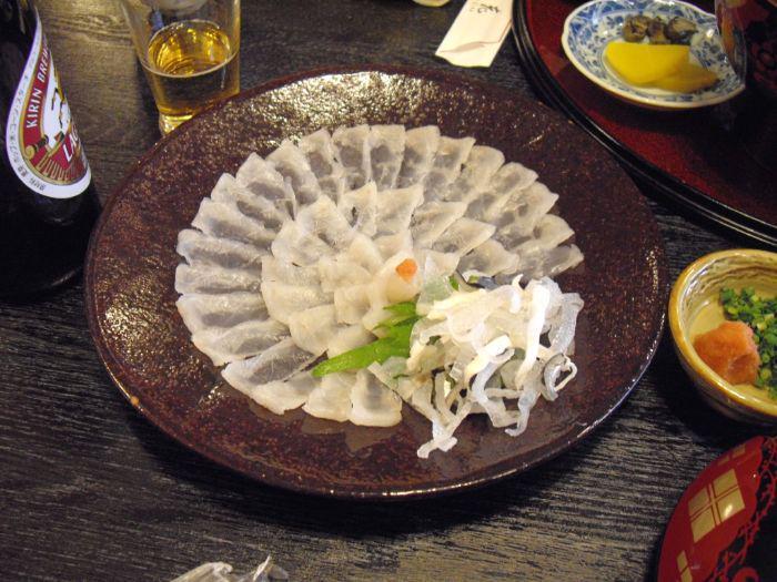 Fugu sashimi Japan