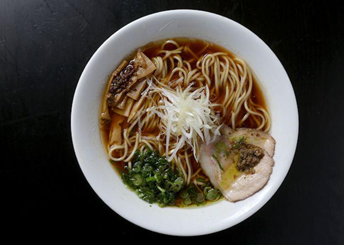 Shoyu clam ramen  from Konjiki Hototogisu, a Michelin-starred ramen restaurant in Tokyo