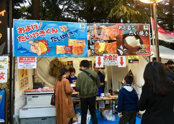 Japan Fisherman Festival food stall