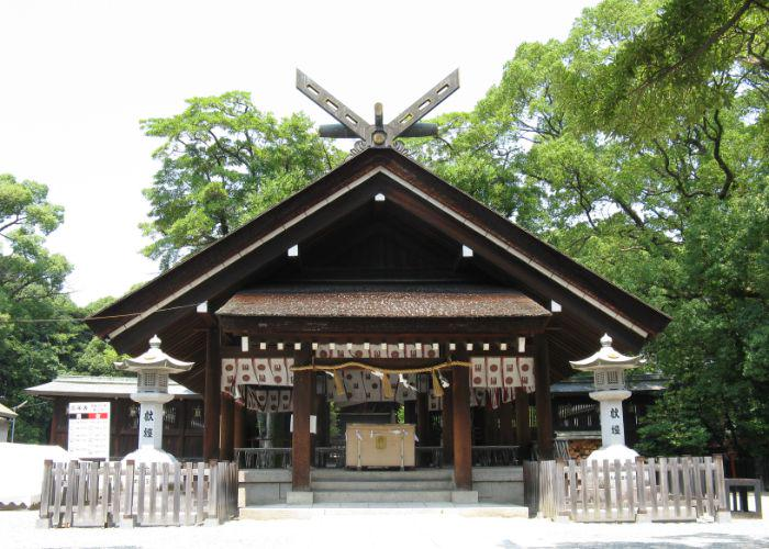 A building of Ootori Taisha Shrine in Osaka