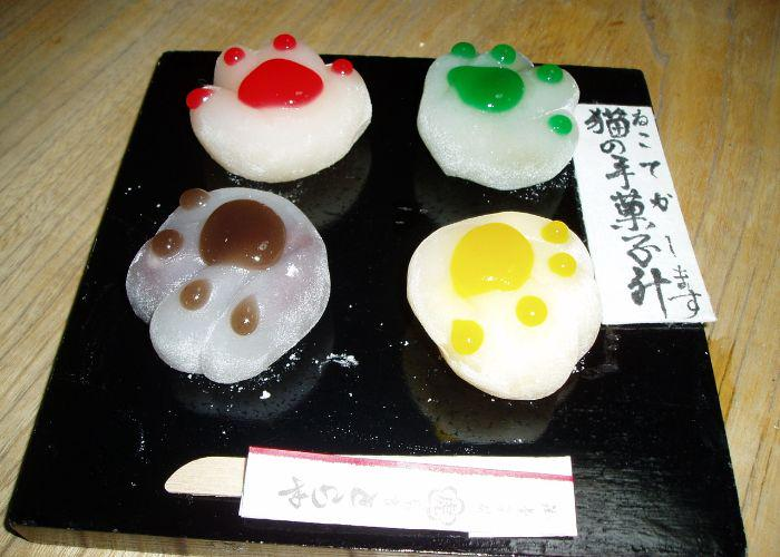 Paw mochi from Toraya no Nyanko, a confectionary in Nara