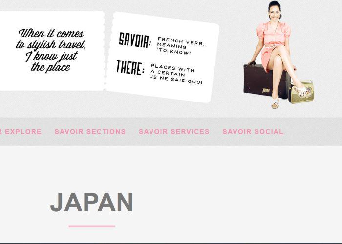 Savoir There Blog web page featuring Japan