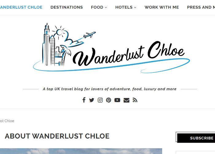 WanderlustChloe home web page