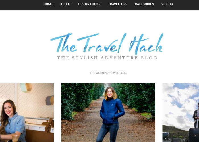 The Travel Hack blog homepage