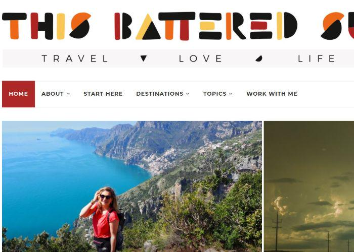 This Battered Suitcase blog homepage