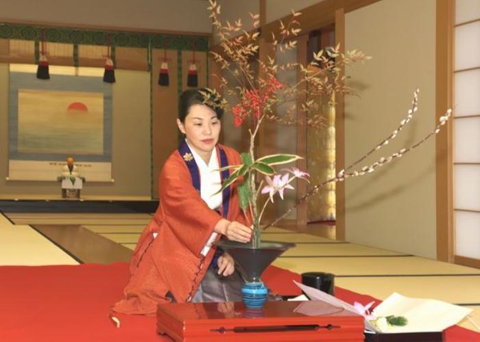 Ikebana the Japanese art of flower arrangements.