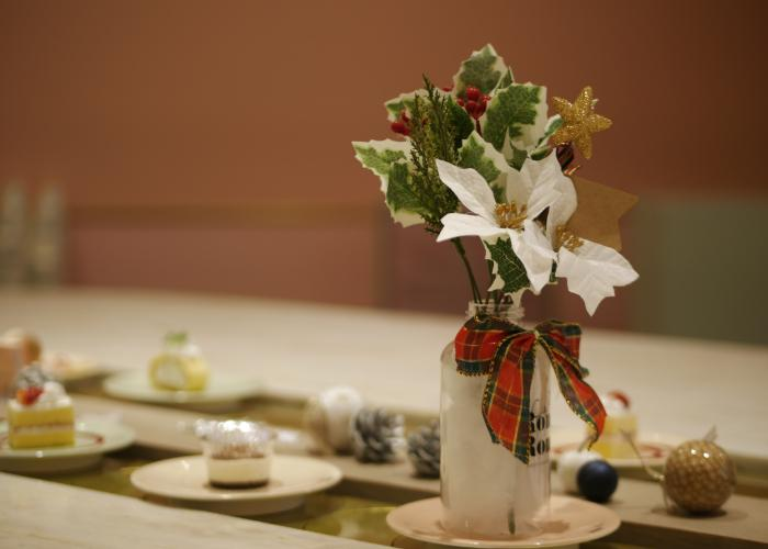 Christmas flower arrangement.
