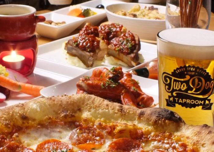 Delicious-looking Western food with craft beers.