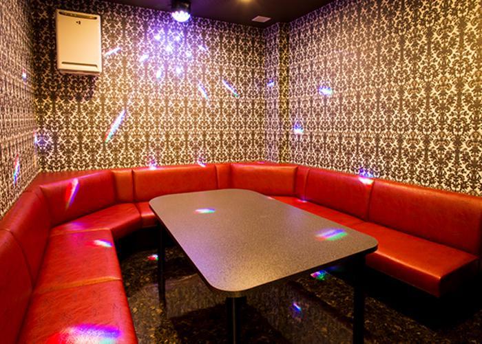 Interior of karaoke room in Japan